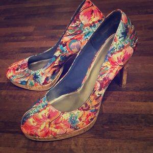 Fioni multi colored heels